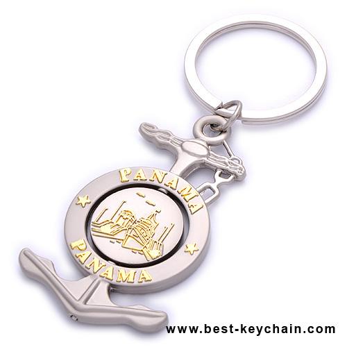 Metal Keychains Souvenirs Panama Canal