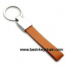 red color pu leather promotion key ring