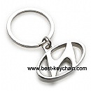 metal hyundai shape key ring keychain