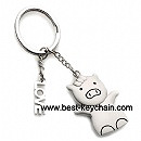 warehouse metal pig shape keychain