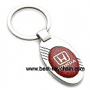 metal ellipse shape honda auto key chain