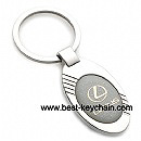 metal ellipse shape lexus auto car key ring