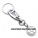 promotion metal football keychain keyring
