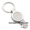 promotion metal key shape keychain keyholder