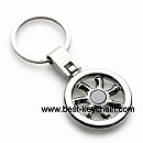 promotion metal tyre shape key ring