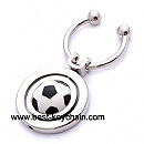 metal with 3d pvc football keychain