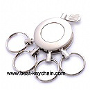 promotion metal round shape function keychain