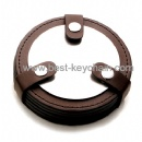 round shape pu leather coaster