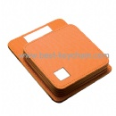 promotion pu leather table holder coaster