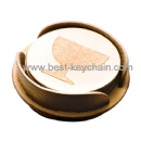 promotion round shaped cup coaster