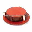 promotion leather gift coaster cup mat