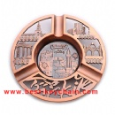 custom metal souvenir ashtray plate
