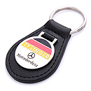 promotion leather mercedes-benz car keychain