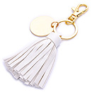 PU LEATHER TASSEL KEYRINGS FOR PROMOTION