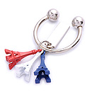 3D souvenir Paris tower metal key chain